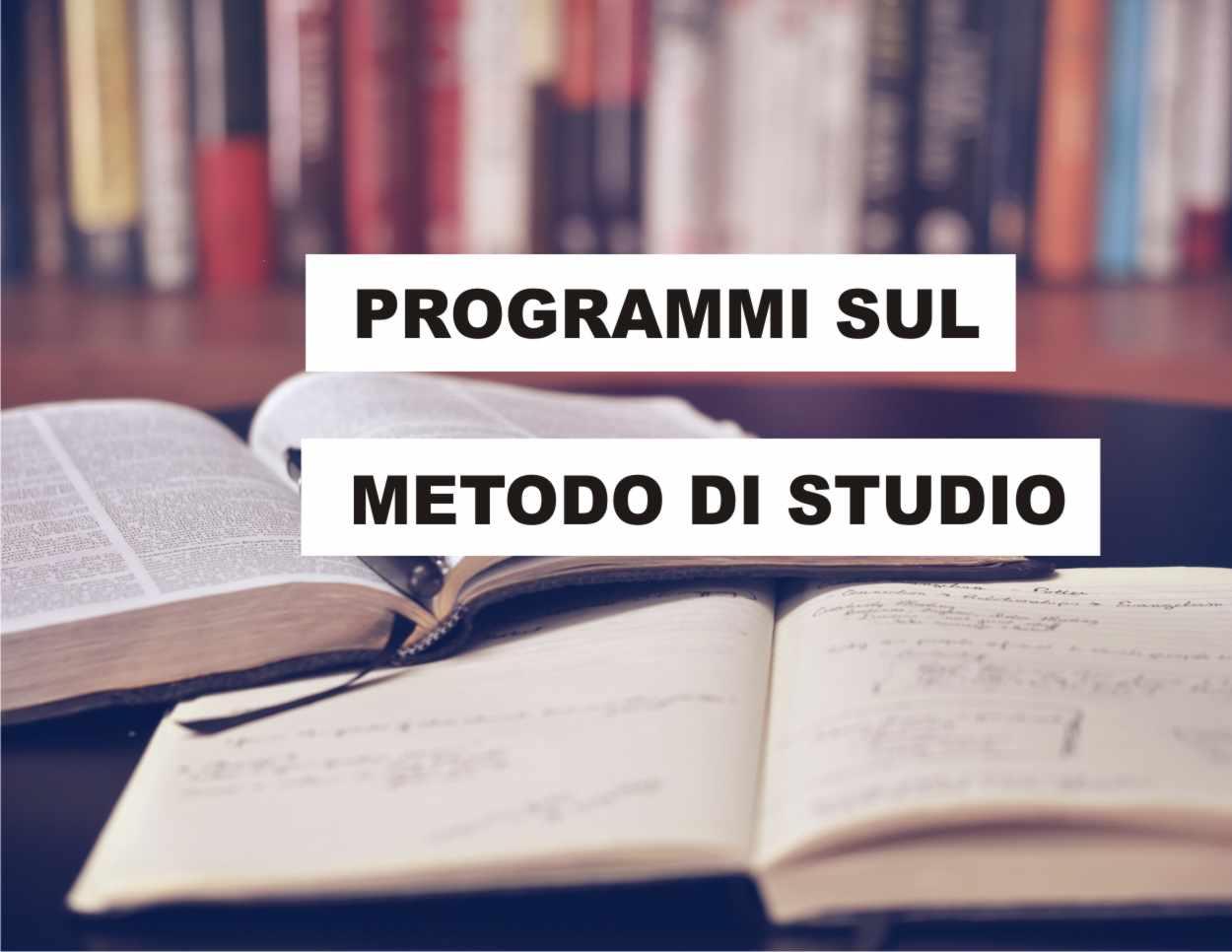 Programmi sul metodo di studio